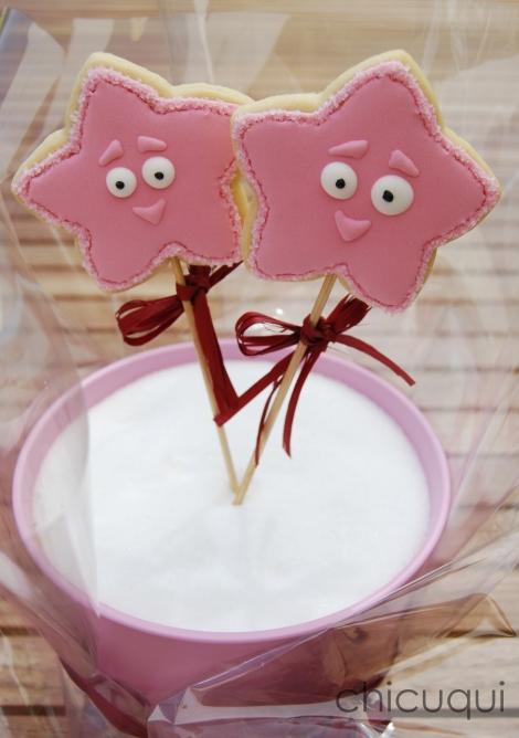 estrellas dora princesas galletas decoradas rosas 01