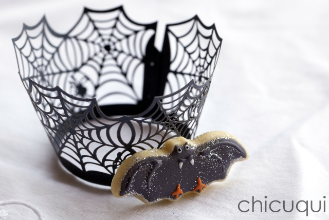 Halloween bat galletas decoradas chicuqui