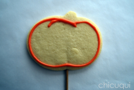 halloween galletas decoradas pumkin calabaza how to 02