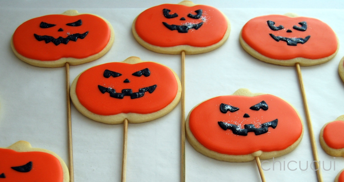 halloween galletas decoradas pumkin calabaza how to 09