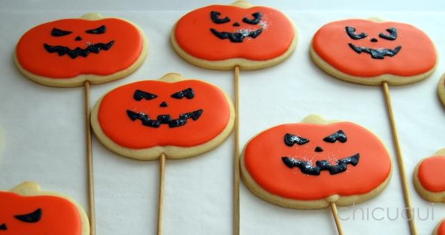 halloween galletas decoradas pumkin calabaza how to 09