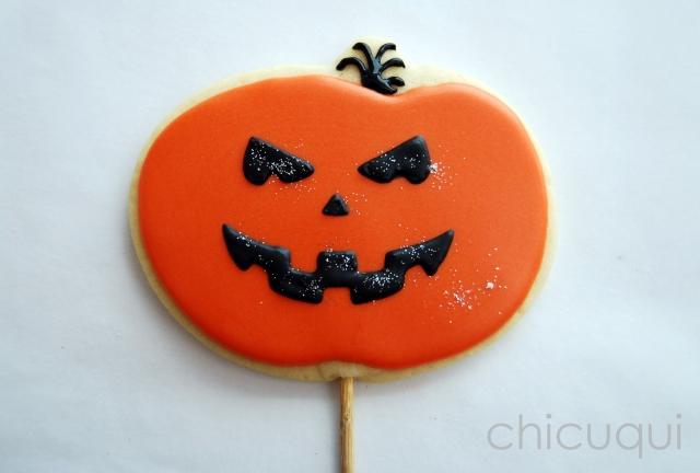 halloween galletas decoradas pumkin calabaza how to 10