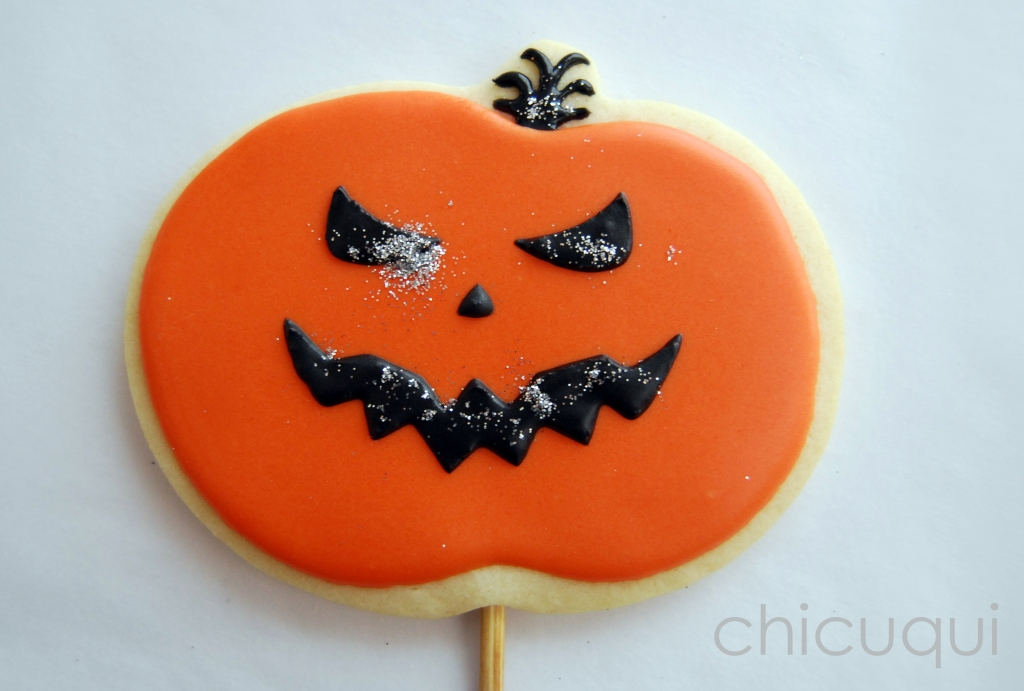 halloween galletas decoradas pumkin calabaza how to 12