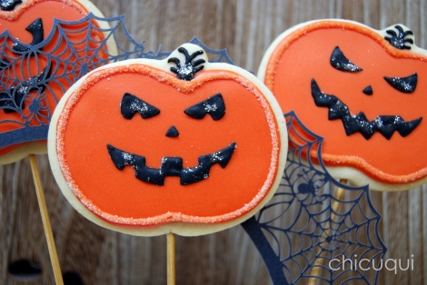 halloween galletas decoradas pumkin calabaza how to 14