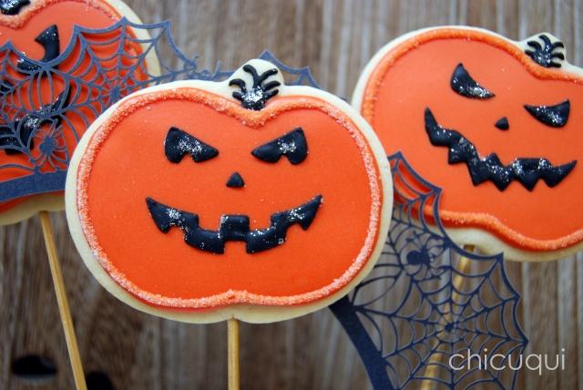 halloween galletas decoradas pumkin calabaza how to 14