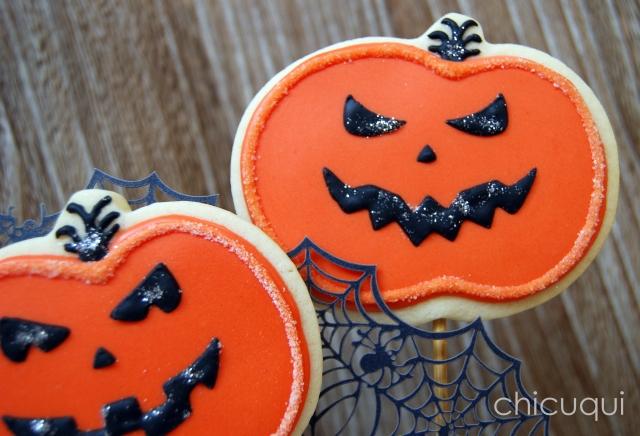 halloween galletas decoradas pumkin calabaza how to 15