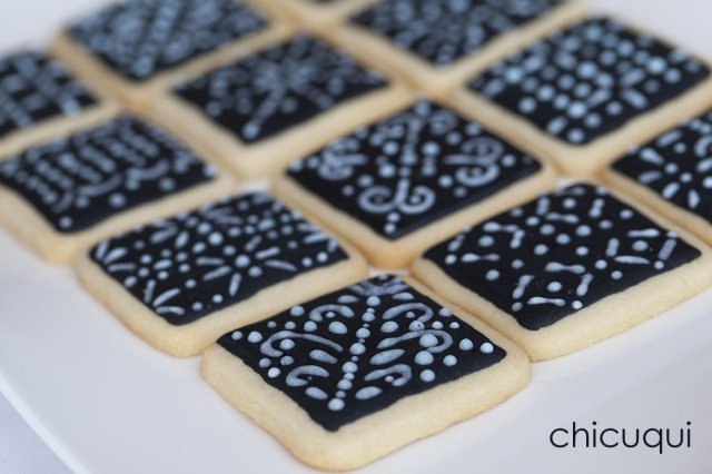 galletas decoradas encaje lace negra chicuqui 05
