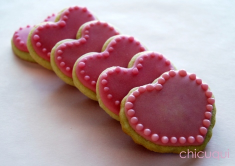 corazones rosas 008 galletas decoradas decorated cookies san valentin