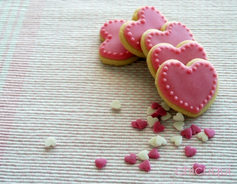 corazones rosas 028 corazones hearts galletas decoradas decorated cookies san valentin