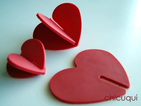 Galletas decoradas San Valentín corazones chocolate candy melts 4