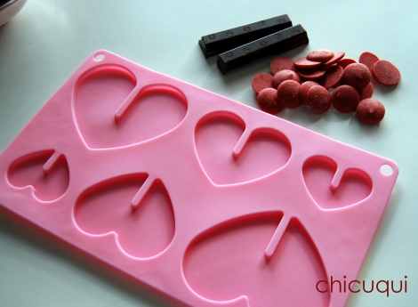 Galletas decoradas San Valentín corazones chocolate candy melts1