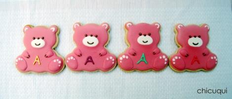 Galletas decoradas bebé decorated cookies baby ositos 1