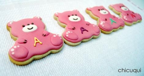 Galletas decoradas bebé decorated cookies baby ositos 2