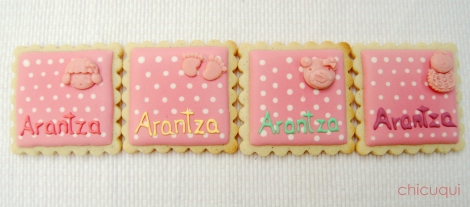 Galletas decoradas bebé decorated cookies baby wet on wet 3