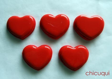 Galletas decoradas san valentin corazones rojos purpurina 2