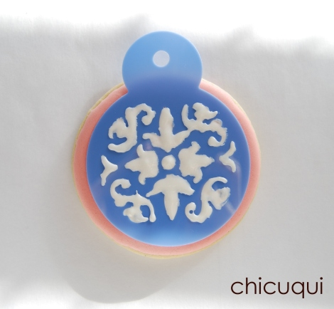 Galletas decoradas stencils decorated cookies 020