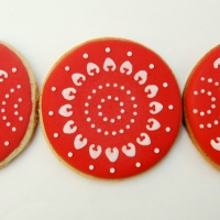 galletas decoradas con stencils para tartas
