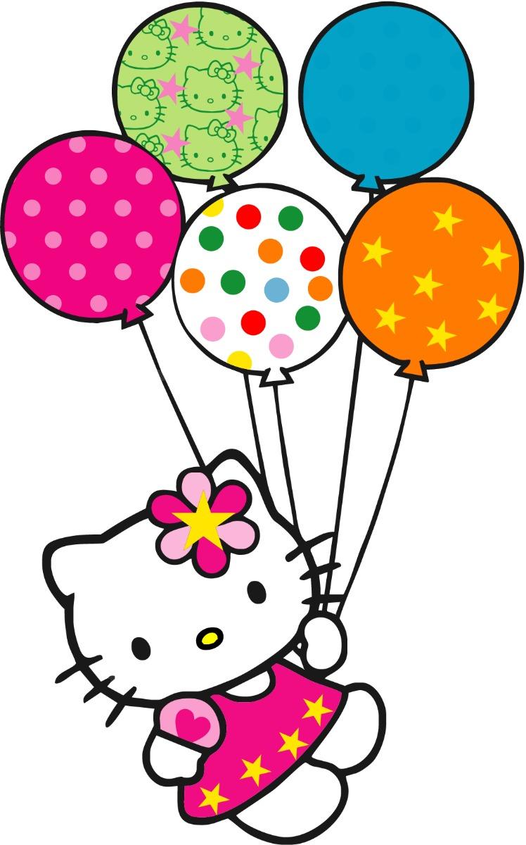 Globos de Hello Kitty en galletas  chicuqui