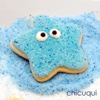 Estrellas de mar, en galletas decoradas sin gluten