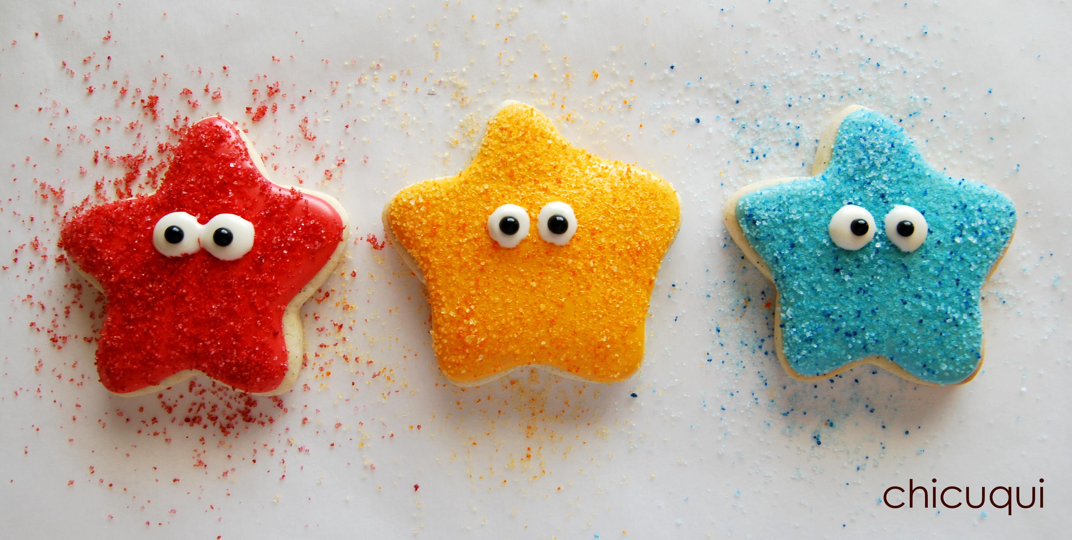 Estrellas de mar en galletas decoradas sin gluten chicuqui for Decoracion con estrellas