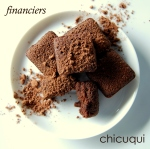 Receta de financiers de chocolate en galletas decoradas chicuqui.com