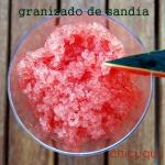Receta de granizado de sandía en chicuqui.com