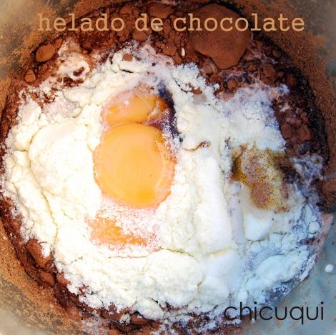 Receta de  helado de chocolate, espectacular!!! en chicuqui.com