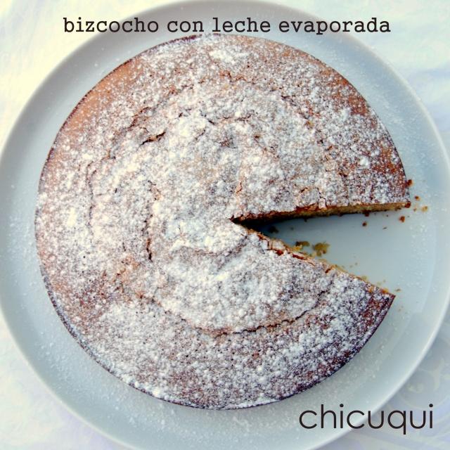 Receta de bizcocho con leche evaporada. chicuqui.com