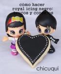 cómo hacer royal icing negro trucos y consejos chicuqui.com 00