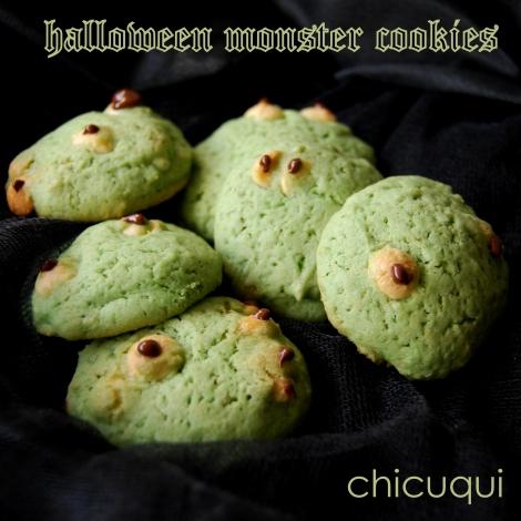 Galletas monster cookies para Halloween