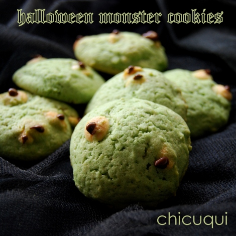 Galletas monster cookies para Halloween