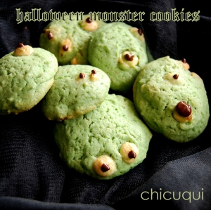 halloween receta de monster cookies en chicuqui galletas decoradas