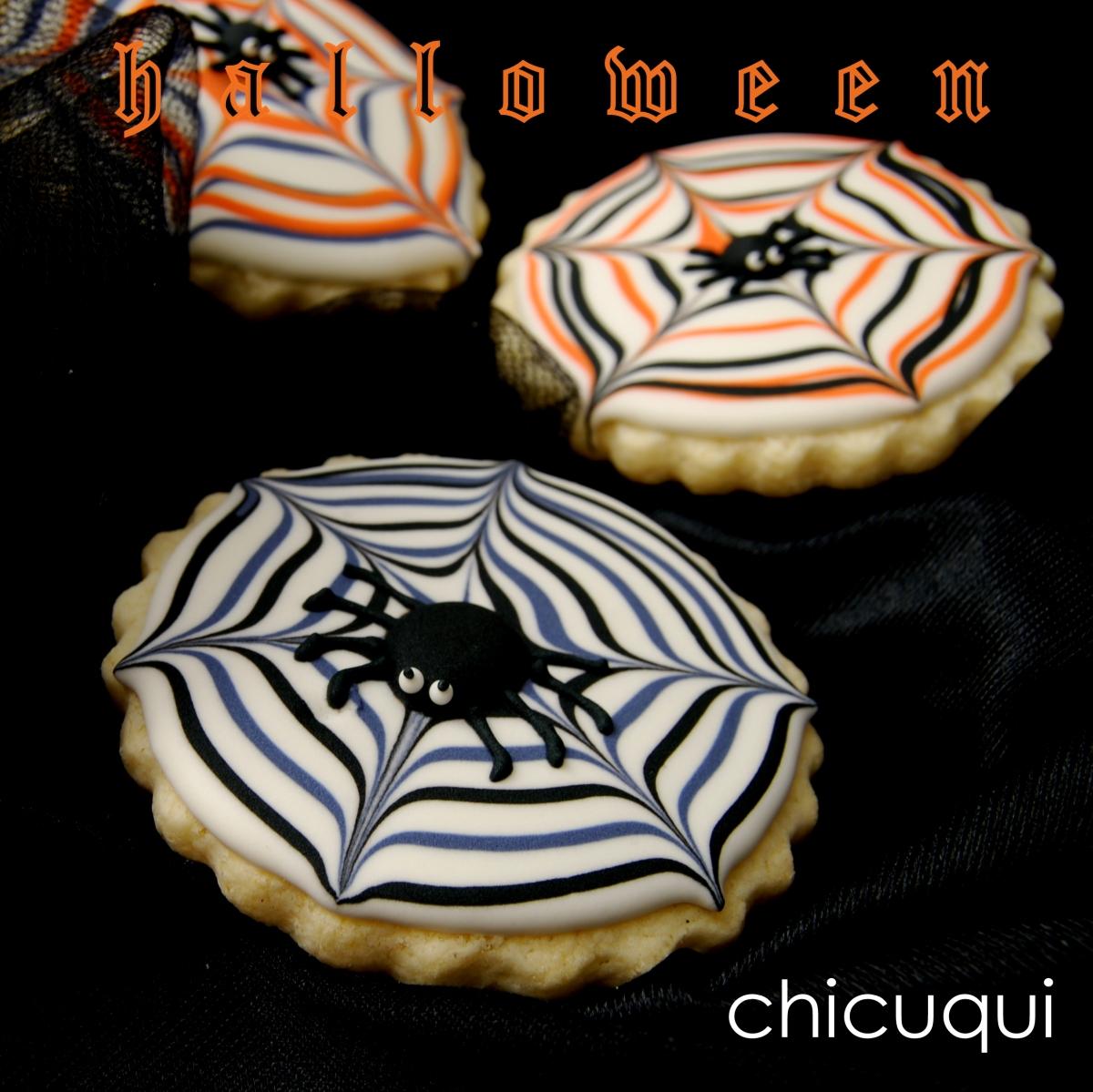 Cómo hacer galletas decoradas sin gluten para Halloween: telas de araña