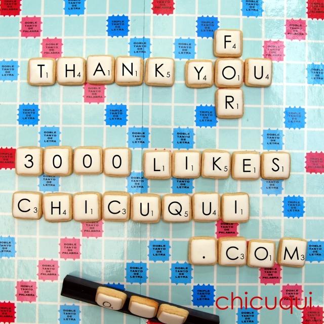 Scrabble galletas decoradas. Tutorial en chicuqui.com