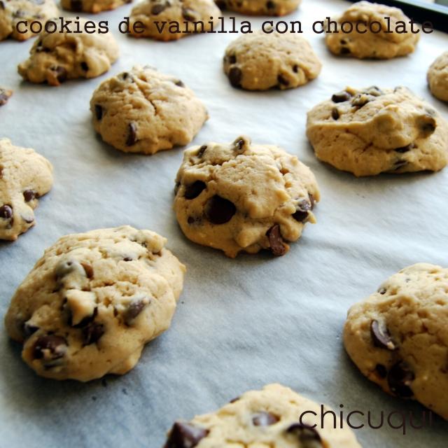 Receta de cookies de vainilla con chocolate chicuqui .com