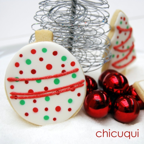 Galletas decoradas para Navidad Christmas tutorial wet on wet chicuqui.com