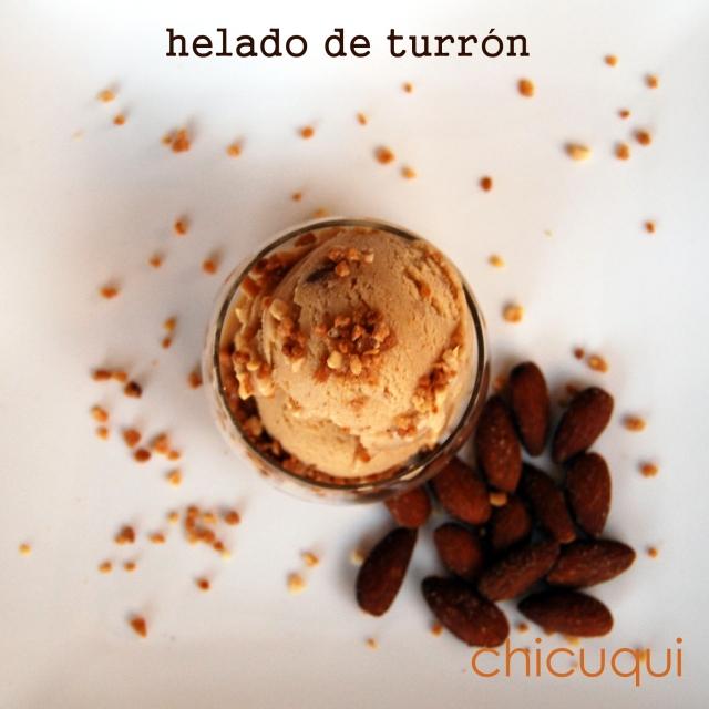 Receta de helado de turrón chicuqui.com galletas decoradas y más