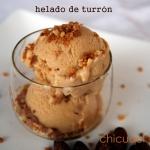 Receta de helado de turrón en chicuqui.com