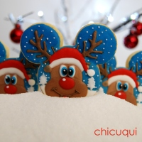 Renos de Santa Claus en galletas decoradas, divertidísimos