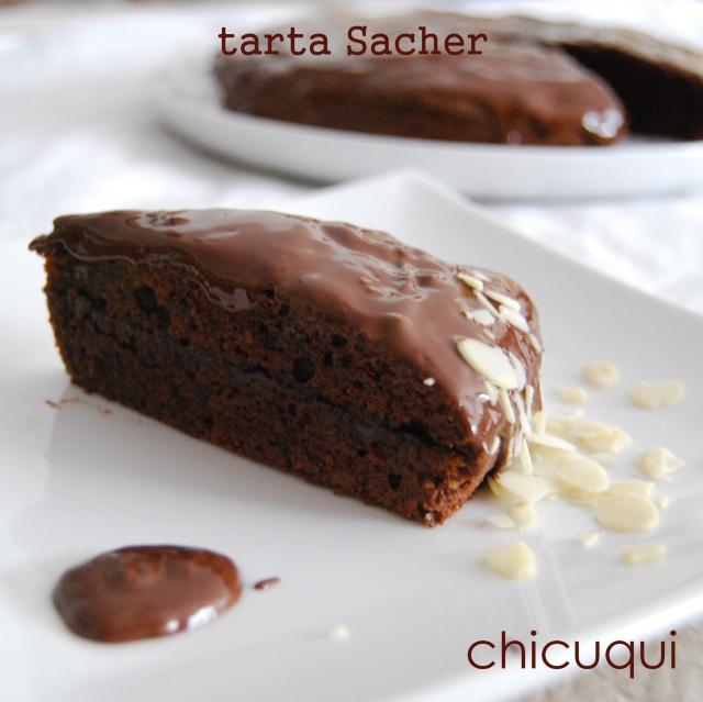 Tarta sacher sin gluten sin lactosa receta en galletas decoradas chicuqui.com