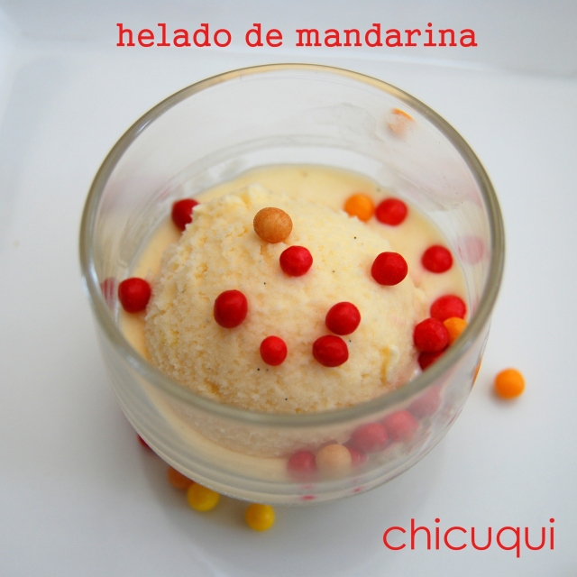 receta helado mandarina galletas decoradas chicuqui