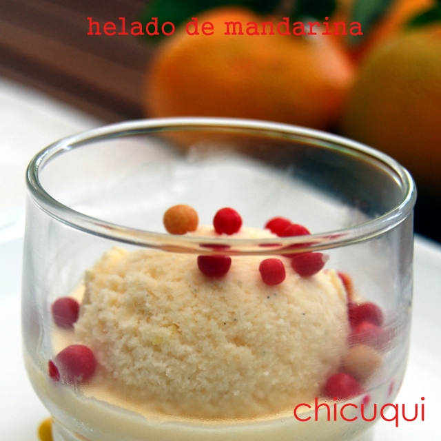 receta helado mandarina galletas decoradas chicuqui