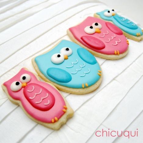 Búhos bebé galletas decoradas chicuqui.com