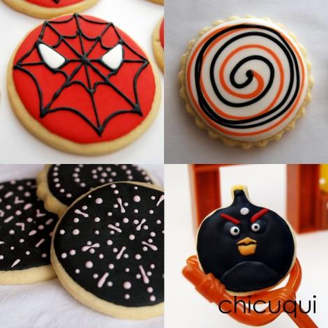 glasa real color negro black icing galletas decoradas chicuqui.com