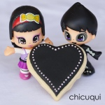 glasa real color negro black icing san valentín galletas decoradas chicuqui.com