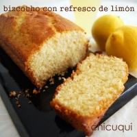 Bizcocho con refresco de limón