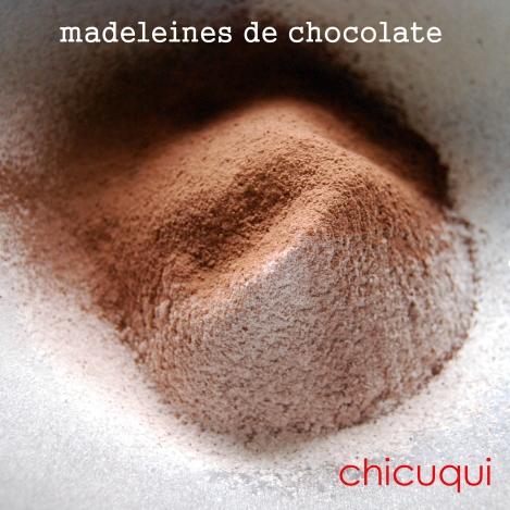 receta de madeleines de chocolate en chicuqui.com galletas decoradas
