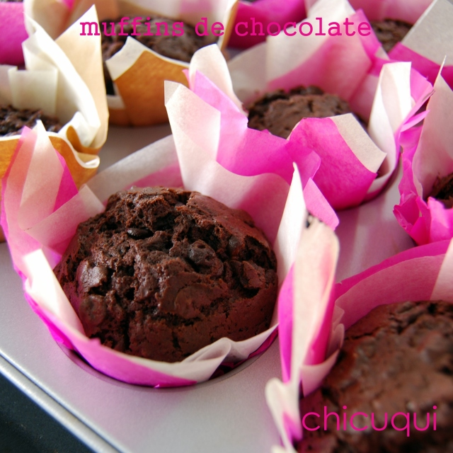 receta de muffins de chocolate en galletas decoradas chicuqui.com