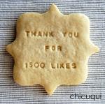 1500 likes de facebook gracias galletas decoradas chicuqui.com