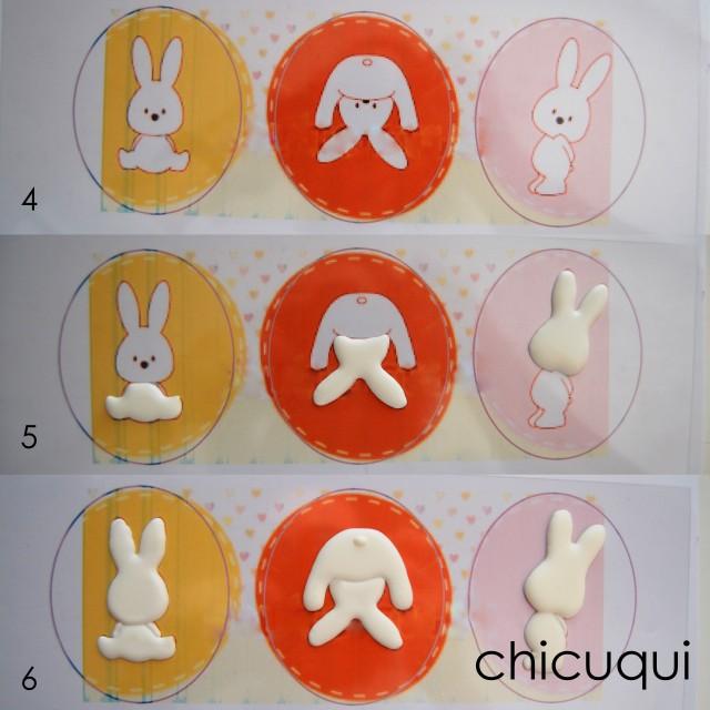 Conejitos de Pascua Easter bunny galletas decoradas chicuqui.com